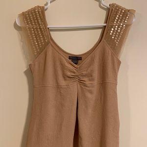 A X Armani Exchange tan blouse